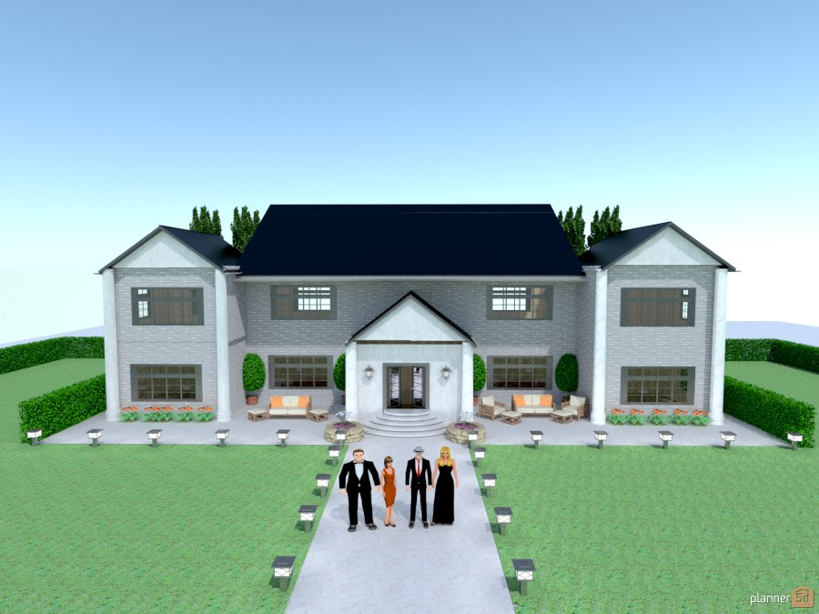 party mansion House ideas Planner 5D