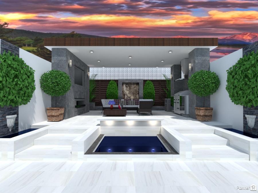 Terraza moderna ideas para terrazas planner 5d - Diseno de cocinas online ...