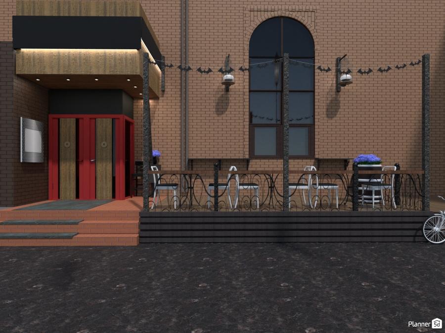 Дизайн фасада кафе 75296 by Татьяна Максимова image