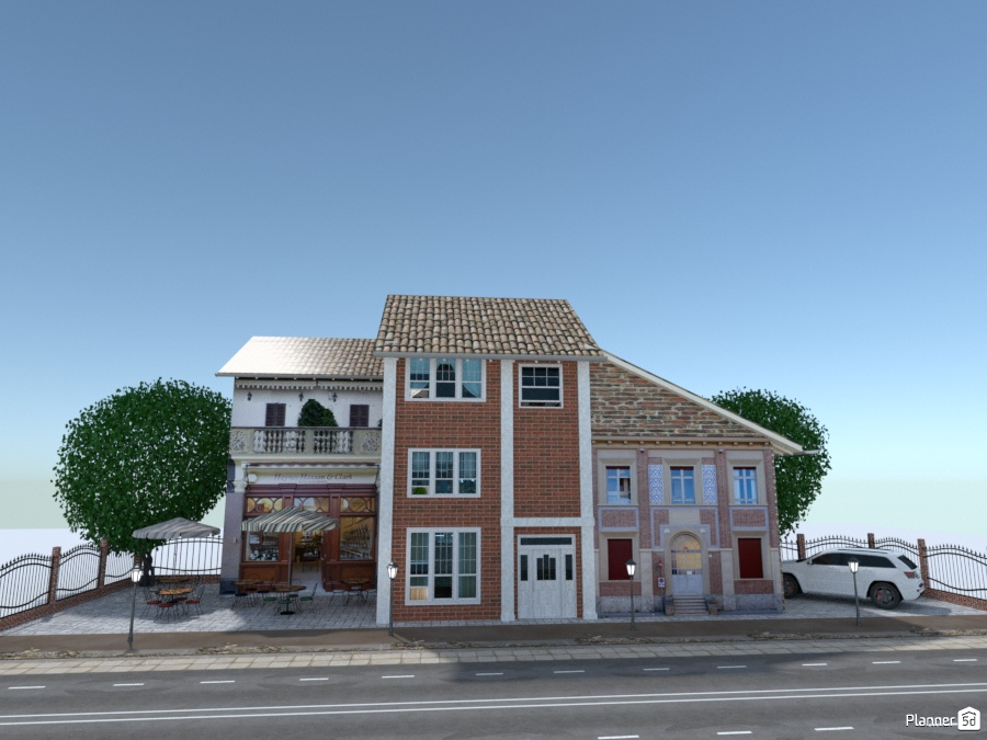 Casa a 3 piani sulla via house ideas planner 5d for Casa a 4 piani
