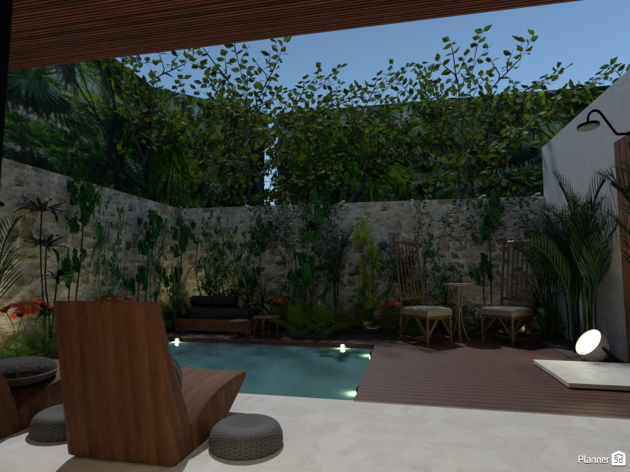 jungle pool terrace 4020638 by Michel image