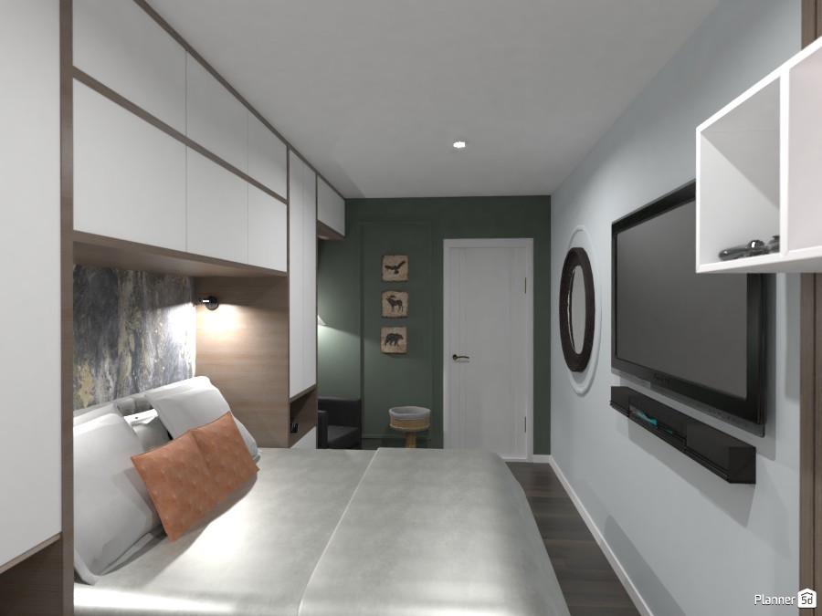 П-образный шкаф в спальне 3489440 by Ksenia image