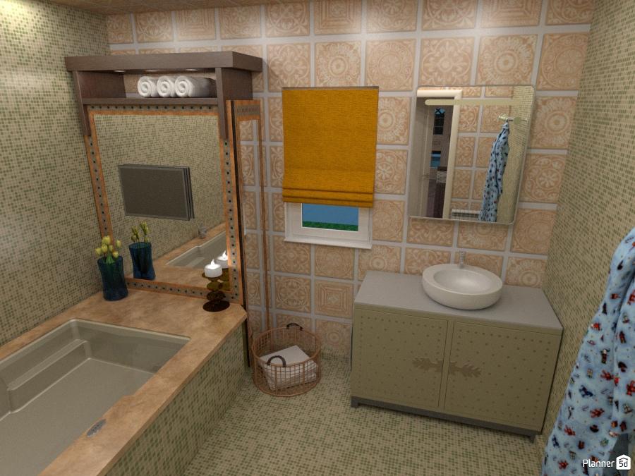 Bathroom apartment ideas planner 5d for Bathroom design 5d