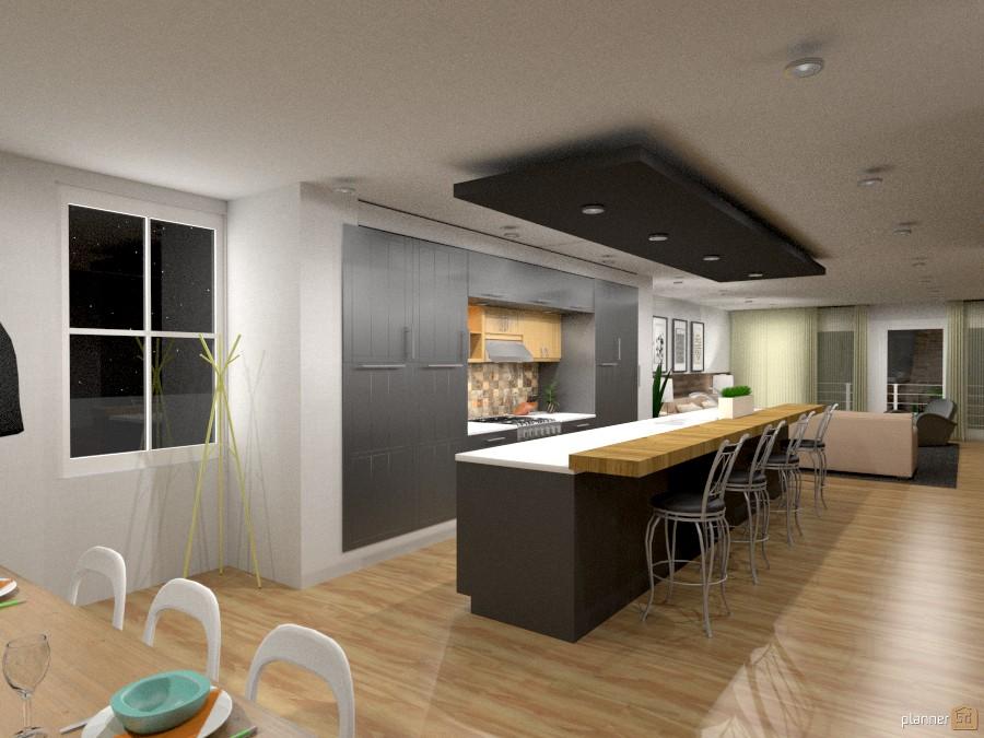 Apartamento contempor neo apartamento ideas planner 5d - Luminarias para cocina ...