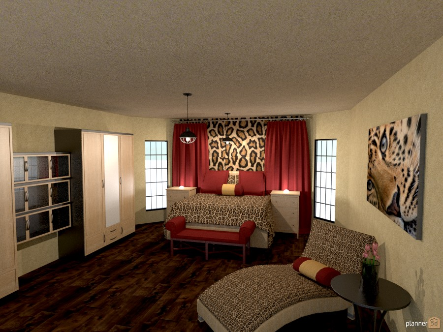leopard bedroom 1001543 by Joy Suiter image
