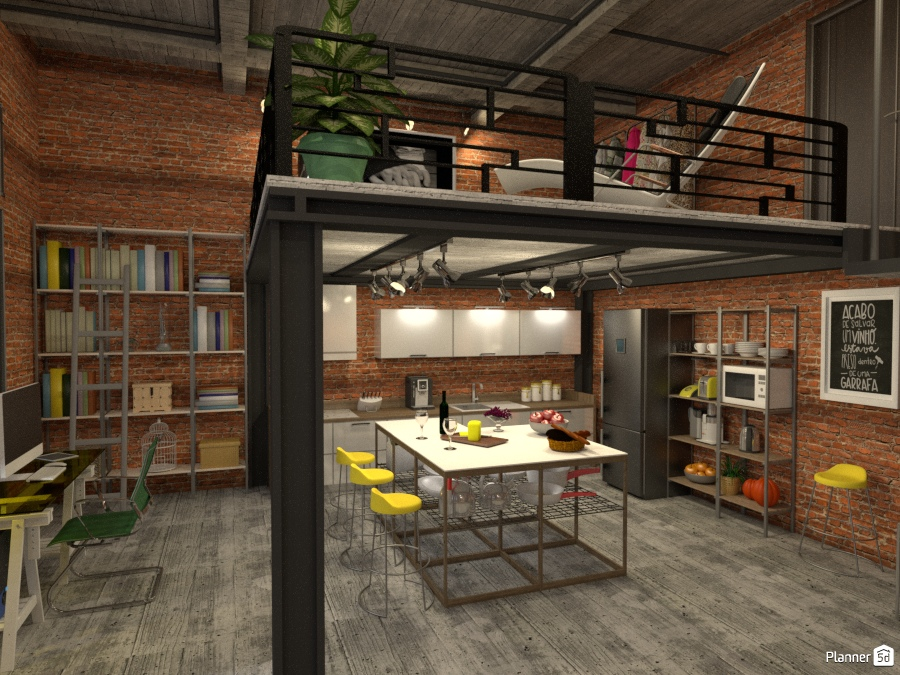 Loft industrial. 1585961 by Michelle Silva image