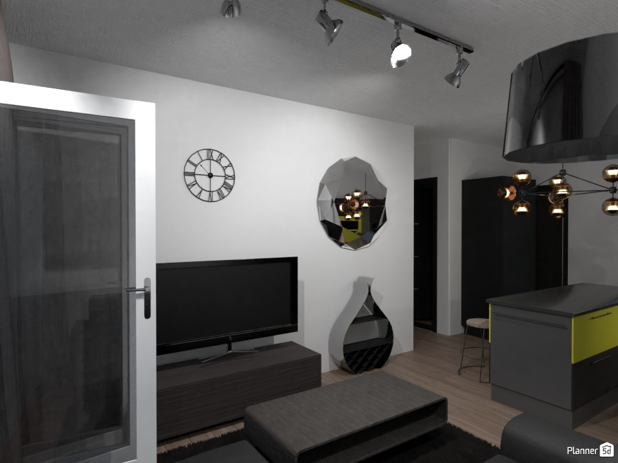 One Bedroom Modern Living Room Apartment 3039100 by Kimani image