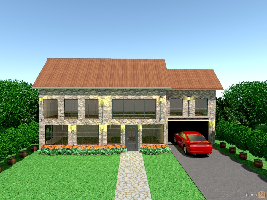 shale house w/garage and car 886510 by Joy Suiter image