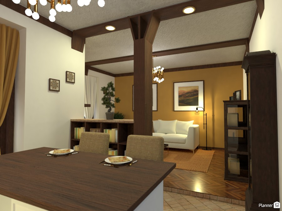Contest: old town kitchen and living room 3716577 by Elena Z image