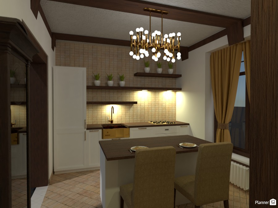Contest: old town kitchen and living room II 3716581 by Elena Z image