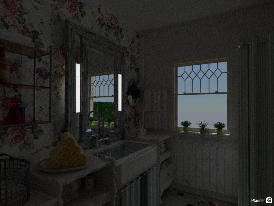 La casa di zia teresa bagno shabby furniture ideas - Planner bagno 3d ...