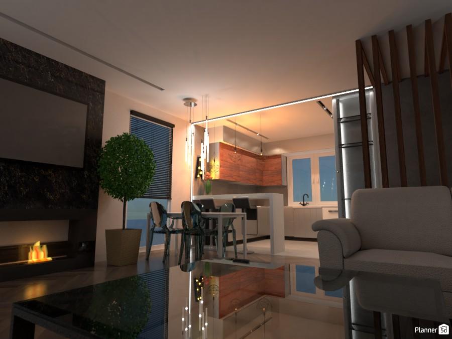 Дизайн гостинной с кухней 3524824 by сергей василевский image