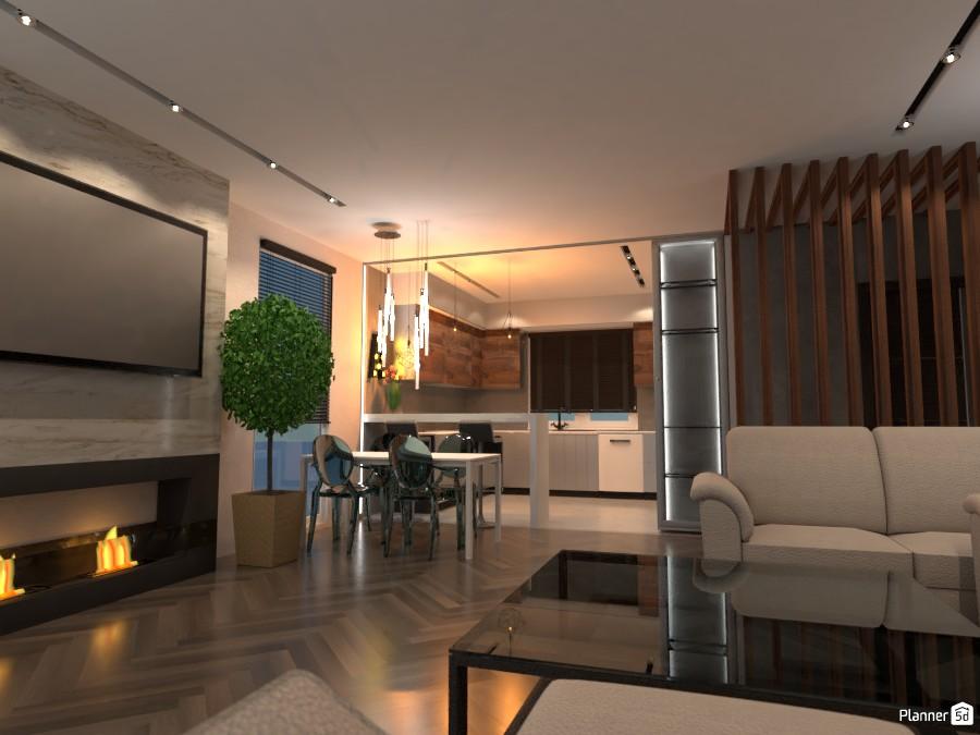 Дизайн гостинной с кухней 3524871 by сергей василевский image