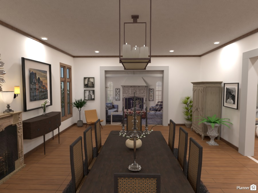 Tudor House Kitchen/Dining Room (Angle 4) 3872657 by DesignKing image