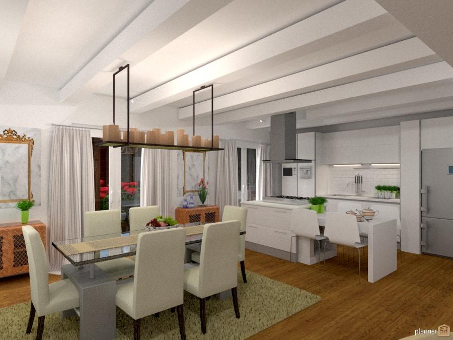 Cucina zona pranzo idee per appartamenti planner 5d for Idee appartamento