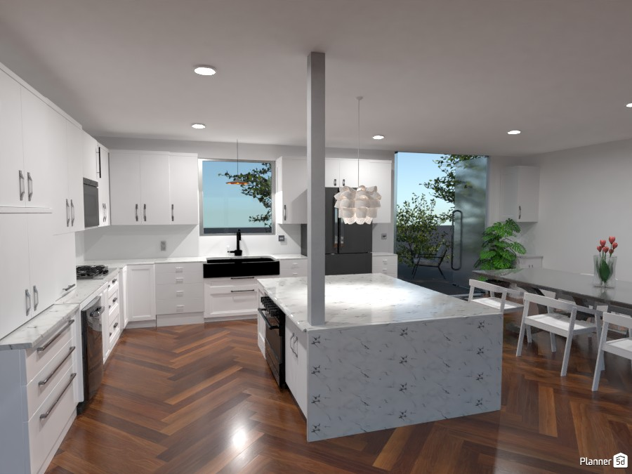 Kitchen With Waterfall 3984017 by Rosie image