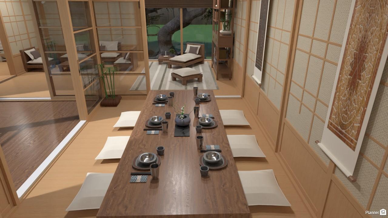 Casa estilo japonés.. (comedor) 4019465 by Hall Pat image