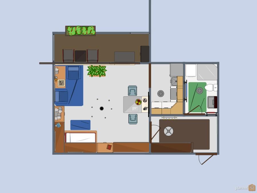 Small apartment for students - Pequeño apartamento para estudiantes 56201 by Siegfried Peter image