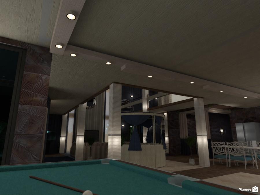 Skylight House Ideas Planner D - Pool table storage ideas