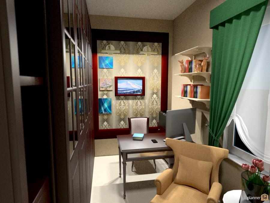 Кабинет   apartment ideas   planner 5d
