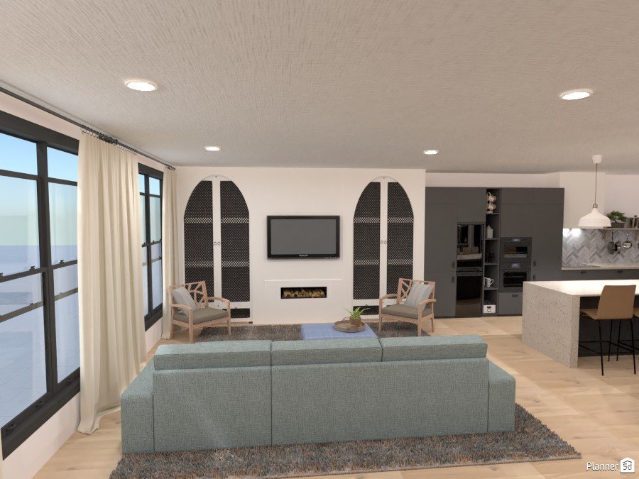 Single Family Condo: Living Room and Kitchen 4224973 by Isabel image