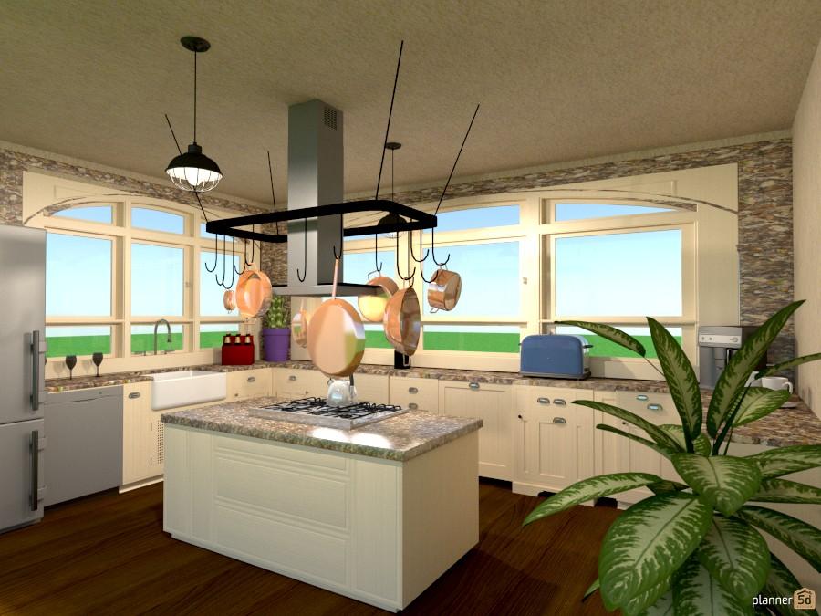 kitchen w/window arches 919613 by Joy Suiter image