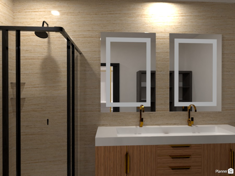 White and Gold Bathroom 3633669 by Isabel image