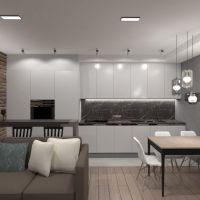 planos apartamento muebles decoración sala de estar cocina iluminación reparación almacenaje estudio 3d