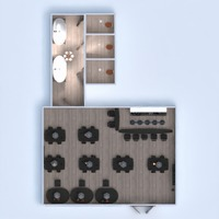 floorplans bathroom kitchen cafe 3d