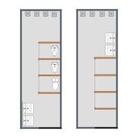 floorplans bathroom living room 3d