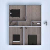 floorplans apartment living room kitchen 3d