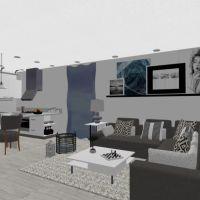 floorplans apartamento quarto sala de jantar 3d