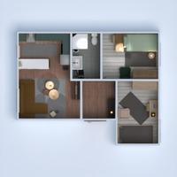 floorplans apartment house furniture bathroom bedroom living room kitchen lighting studio 3d