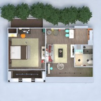 floorplans furniture décor living room kitchen lighting household architecture studio 3d