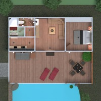 floorplans apartment house terrace bedroom living room outdoor landscape architecture 3d