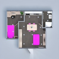 floorplans apartment furniture decor bathroom bedroom living room kitchen lighting dining room storage entryway 3d