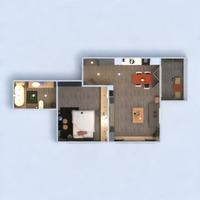 planos apartamento cuarto de baño dormitorio sala de estar 3d