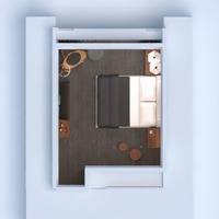 floorplans apartment furniture decor bedroom 3d