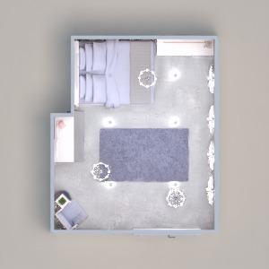 planos decoración dormitorio trastero 3d