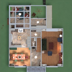 floorplans namas dekoras vonia virtuvė renovacija 3d