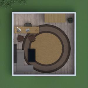planos casa muebles exterior despacho arquitectura 3d