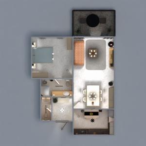 floorplans butas baldai dekoras vonia miegamasis svetainė virtuvė eksterjeras apšvietimas renovacija namų apyvoka valgomasis prieškambaris 3d