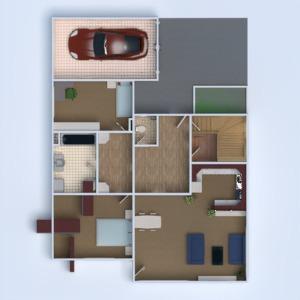 floorplans haus mobiliar badezimmer schlafzimmer wohnzimmer garage küche kinderzimmer 3d