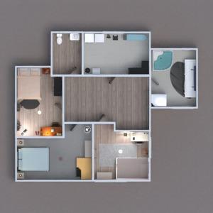 planos casa dormitorio cocina habitación infantil arquitectura 3d