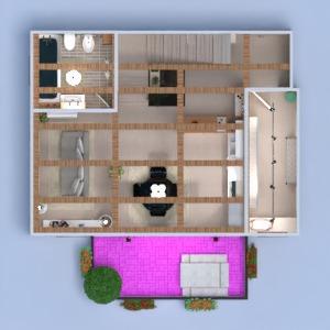floorplans apartment terrace furniture decor bathroom bedroom kitchen lighting architecture storage 3d