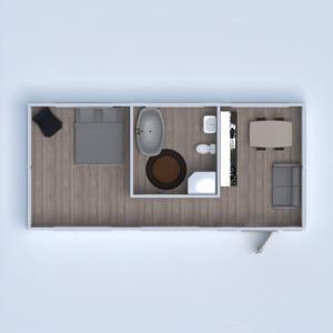 floorplans apartment furniture decor bathroom bedroom 3d