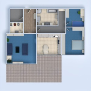 floorplans dom łazienka sypialnia pokój dzienny kuchnia pokój diecięcy 3d