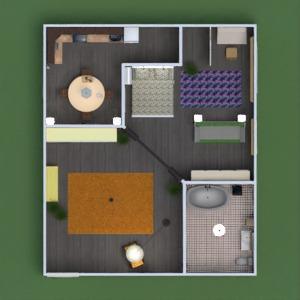 floorplans wohnung badezimmer schlafzimmer wohnzimmer küche eingang 3d