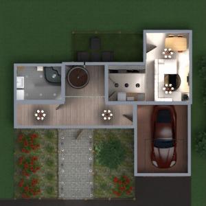 floorplans casa casa de banho dormitório garagem arquitetura 3d