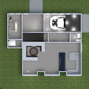 floorplans house living room garage kitchen outdoor 3d